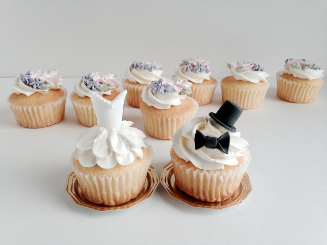 Bride and Groom Cupcake