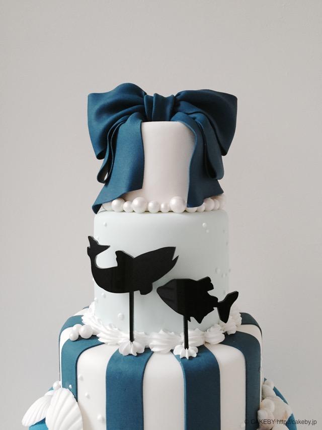 20151104-sea-ribbon-stripe-cake4