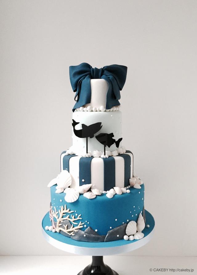 20151104-sea-ribbon-stripe-cake6