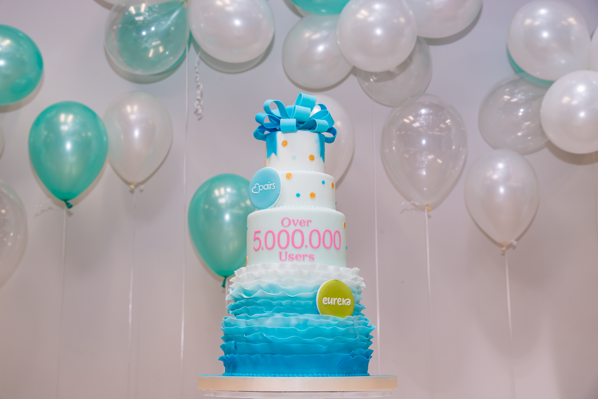 CAKEBY Pairs 5million Users Cake