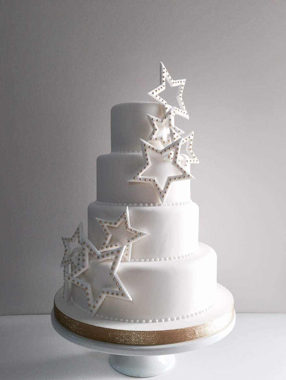 stars wedding cake