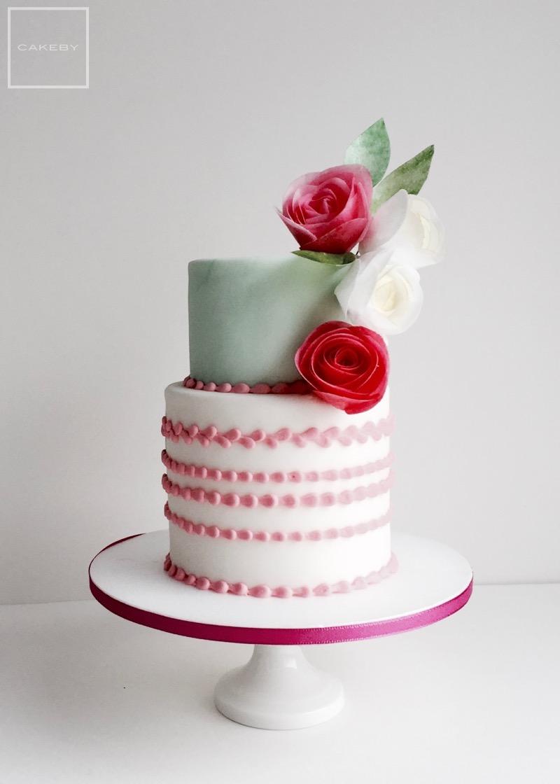 wafer paper flower cake