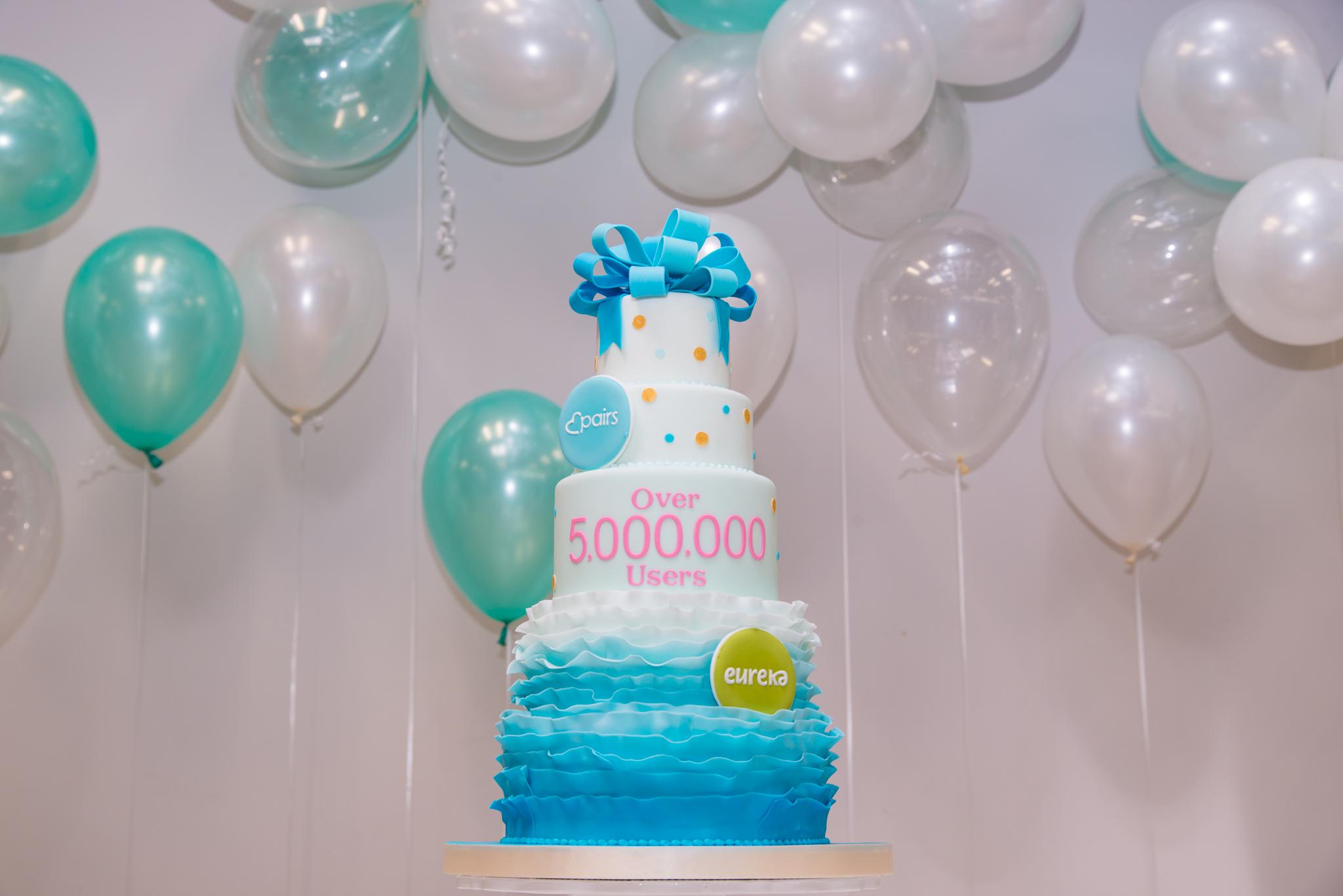 CAKEBY Pairs 5million Users Cake